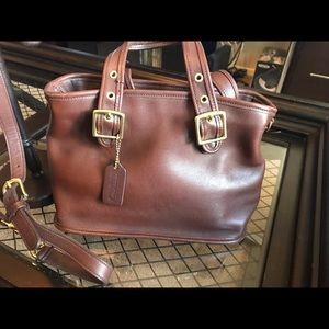 Coach Brown Leather Satchel- F9P-9063